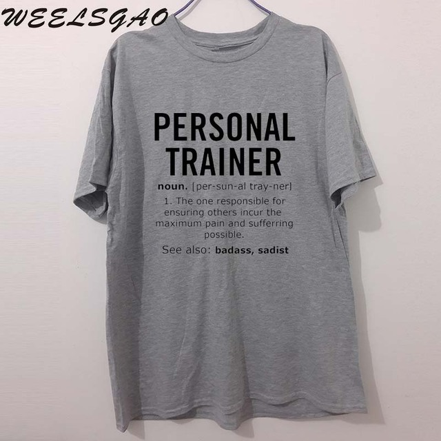 personal trainer noun job funny fathers day dad gift printed t shirt