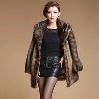 2018 зимние высококачественные имитация норки куртка толщиной куница бархатные теплые пальто женские пальто с искусственным мехом Большие р