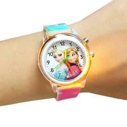 Принцесса Эльза детские часы электронные красочные источник света детские часы для девочек день рождения Дети подарок часы детские