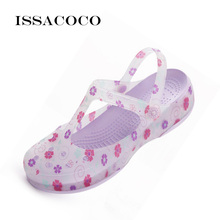 ISSACOCO Slippers Sandals Women Ladies Shoes Jelly Clog Summer Beach Garden Breathable Zapatillas Pantufa