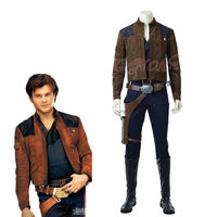 Cafiona 2018 Newest Star Wars Han Solo Cosplay Costume Cool Man Outfits Jacket Hero Set