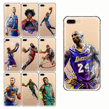 American style Basketball Phone Westbrook Curry Harden James Soft Silicone Sport Cover for iPhone X 10 5 se 7 8 Plus 5S 6 6S XR