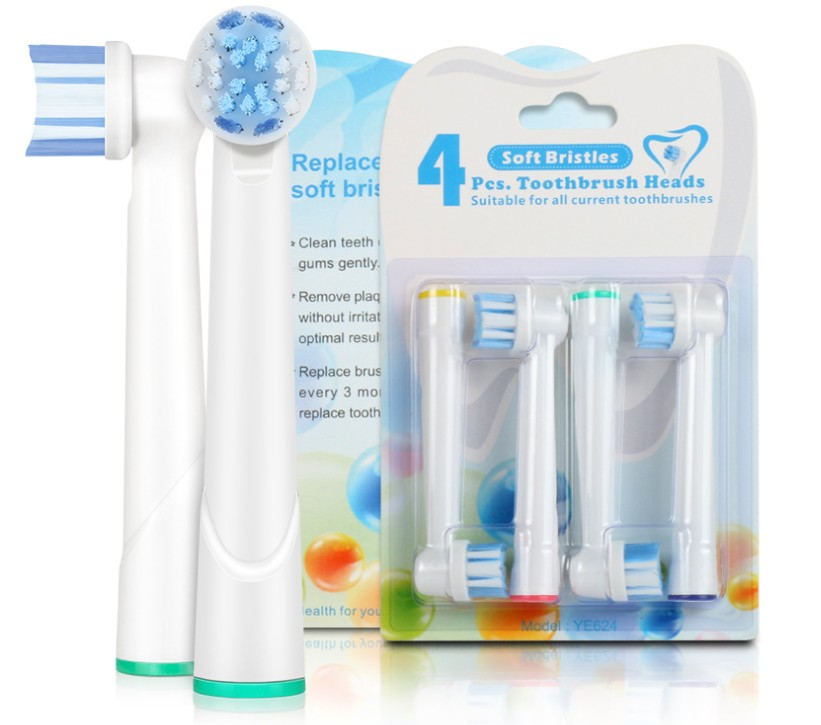 8pcs/set YE624 Promotion Electric Replacement Cross Action Replaceable Toothbrush Heads For Oral B