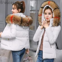 Brieuces 2018 Winter Jacket Women Thick Warm Hooded Parka Padded Coat Long Paragraph Slim Jacket Female fur hooded warm brand baby infant girls fur winter warm coat 2018 cloak jacket thick warm clothes baby girl cute hooded long sleeve coats jacket