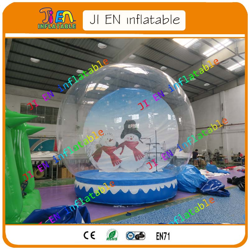 Delicious Free Air Ship To Door!3 Different Photos Inflatable Snow Globe/3m Inflatable Human Size Snow Globe In Quality Christmas Inflatable Balloon Excellent