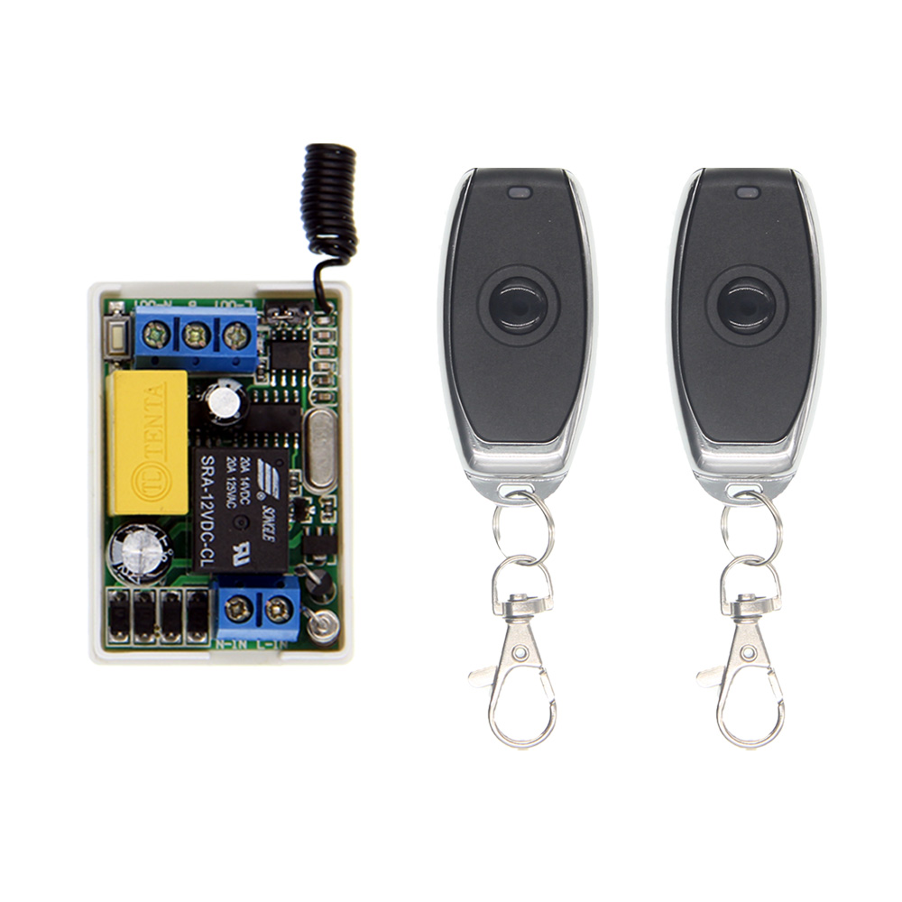 Small Size AC 220V 10A 315 / 433.92 MHz 1CH 1 CH Intelligent RF Wireless Remote Control Switch System For LED Light Lamp Bulb keyshare dual bulb night vision led light kit for remote control drones