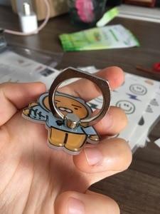Image 4 - 1Pcs Cartoon Leuke Anti Fall Metalen Vinger Ring Mobiele Telefoon Ondersteuning Korea Kpop Figuur Speelgoed