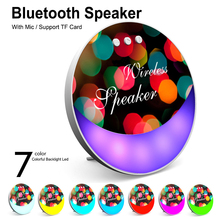 Portable Bluetooth Wireless Player 7 Color Colorful Backlight Led With MIC TF Card For Smart phone Speaker