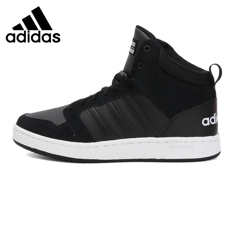 Girls Adidas neo Hoops Mid K with Synthetic leather upper with synthetic nubuck overlays Sneakers (GAS26(B) WHITEPINK)