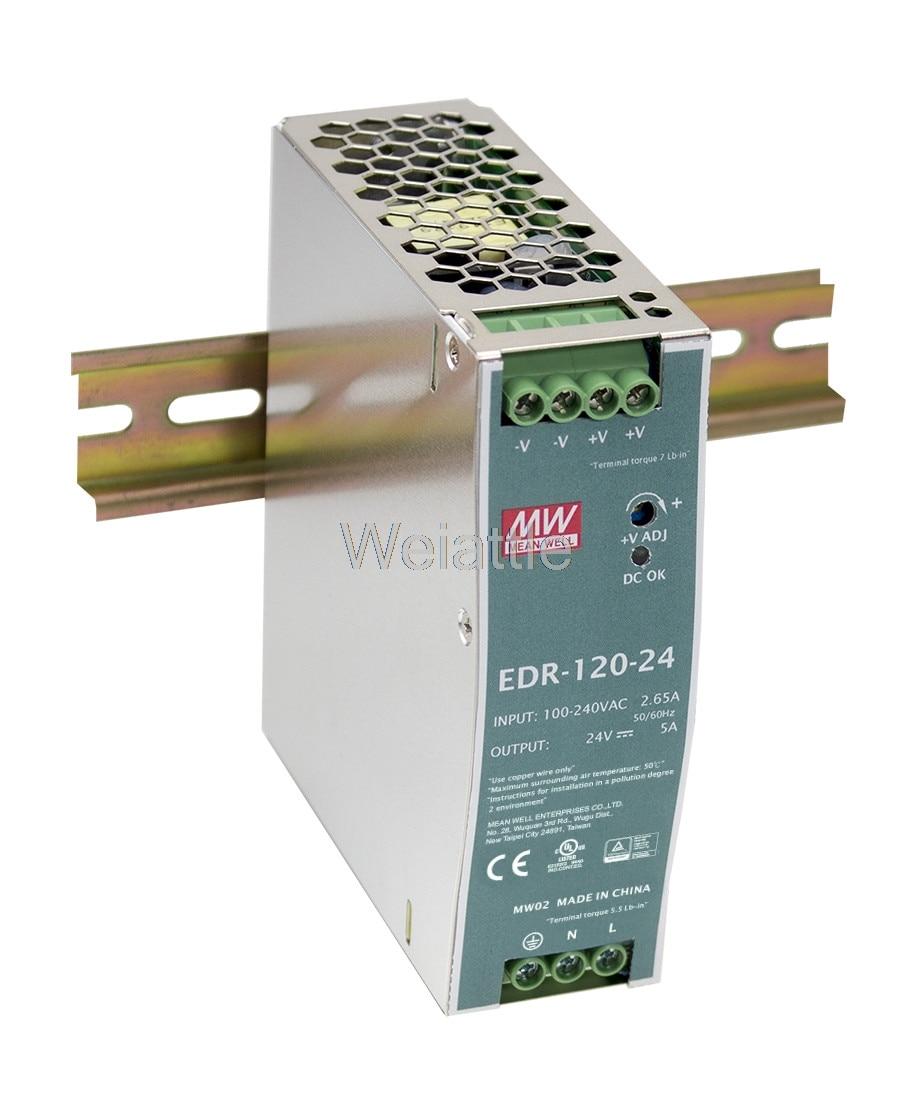 цена на MEAN WELL original EDR-120-48 48V 2.5A meanwell EDR-120 48V 120W Single Output Industrial DIN RAIL