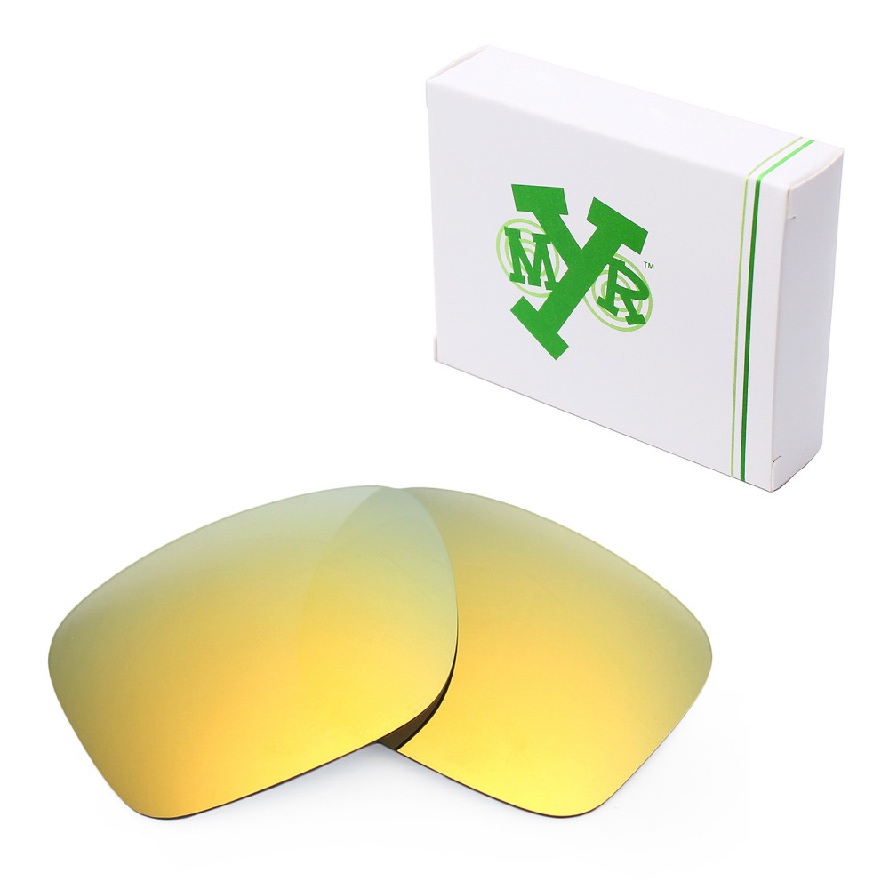 968953d16b Mryok Anti-Scratch POLARIZED Replacement Lenses for Oakley Holbrook Sunglasses  24K Gold