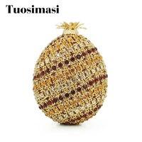 Ananas Luxe kristal Clutch Bags Bling Strass Avondtassen Gold Vrouwen Avond Clutch Tassen Party Bag Handtassen (88191A-G)