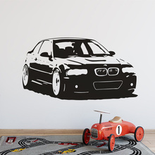 Car Fans Home Decor New Design Wall Sticker Fashion Room Decoration Vinyl Art Removable Poster Mural Decals W223