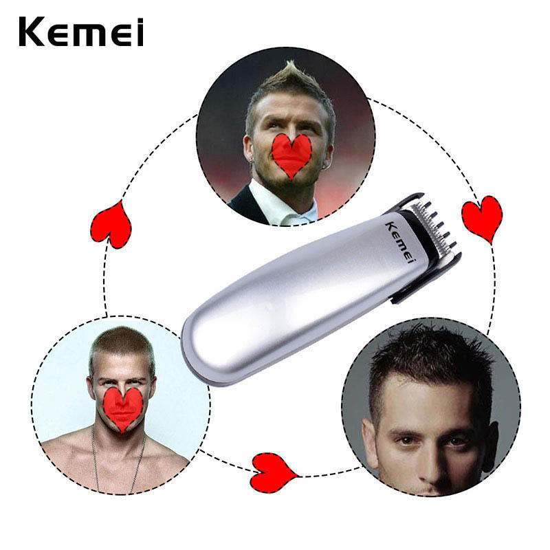 Kemei Professional Electronic Hair Trimmer Clipper Razor Men Child Hair Shaver Shaving Beard Cutting Hair Battery Powered Tools 50pcs variety curvature convenient disposable eyelash brushes knife trimmer clipper tools safety shaver clips professional2