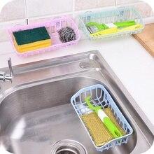 Double Suction Cup Kitchen Sink Sponge Storage Rack Hanging Basket Bathroom Accessory Dish Washing Racks