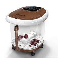 Ноги бассейна спа массаж ног нагрева машина ванна для ног умывания ролик электрический массажер ведро постоянная температура Здравоохране
