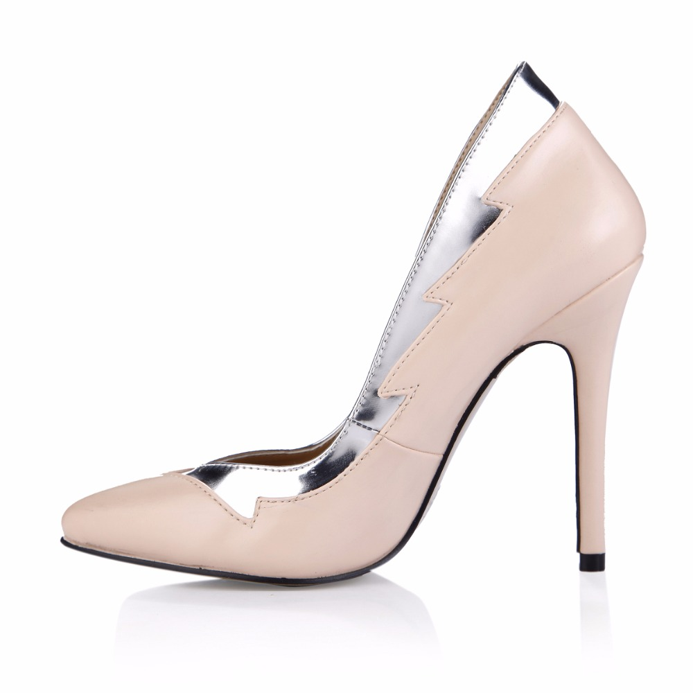 2019 New Style Fashion Women Mujer Pointed Toe Big Plus Size Sexy Female High Heel Shoes For Women Ladies Pumps 0640 24a in Women 39 s Pumps from Shoes