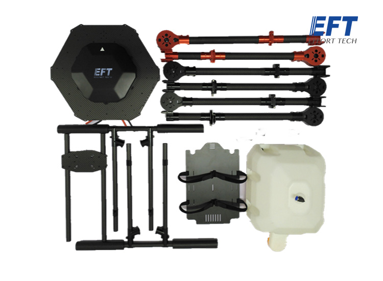 EFT DIY 15L Agriculture spray hexacopter drone kit 1550mm pure carbon fiber annular folding frame + sprayer kit