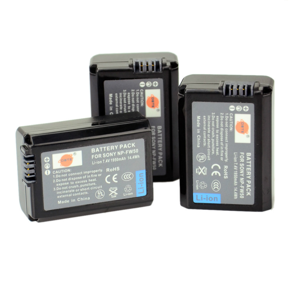 ФОТО DSTE 3pcs NP-FW50 Battery For Sony NEX-7 NEX-5N NEX-F3 SLT-A37 A7 NEX-5R NEX-6 NEX-3 NEX-3A Alpha 7R II Camera