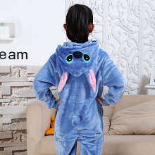 Photography Kid Boys Girls Party Clothes Pijamas Flannel Pajamas Child Pyjamas Hooded Sleepwear Cartoon Animal Stitch Cosplay