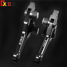 цена на For KAWASAKI KDX250SR KDX 250SR KDX250 SR 1992 1993 1994 Motocross Pit Bike Pivot Brake Clutch Levers 7 Colors WITH LOGO KDX