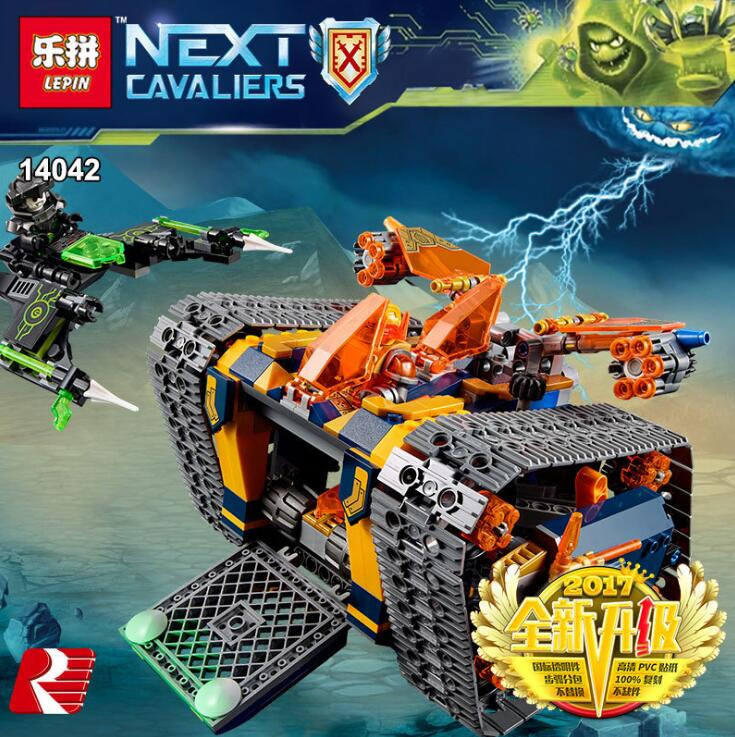 Lepin 14042 Knights Heavy Armed Mobile Crawler Set Building Blocks Educational Kids Toys Christmas Gift brinquedos 72006 lepin 14004 knights beast master chaos chariot building bricks blocks set kids toys compatible 70314 nexus knights 334pcs set