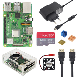 Raspberry Pi 3 Model B + Plus Kit 16 32 Gb Sd-kaart + Fan + 2.5A Switch Power Adapter + Koellichaam + Hdmi Kabel Voor Raspberry Pi 3 B +