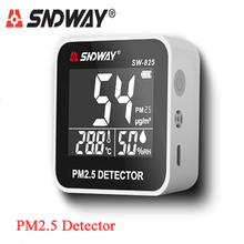 Sndway PM2.5 Detector PM 2.5 Air Quality Monitor Gas Analyzer with Temperature and Humidity Meter Sensor Display