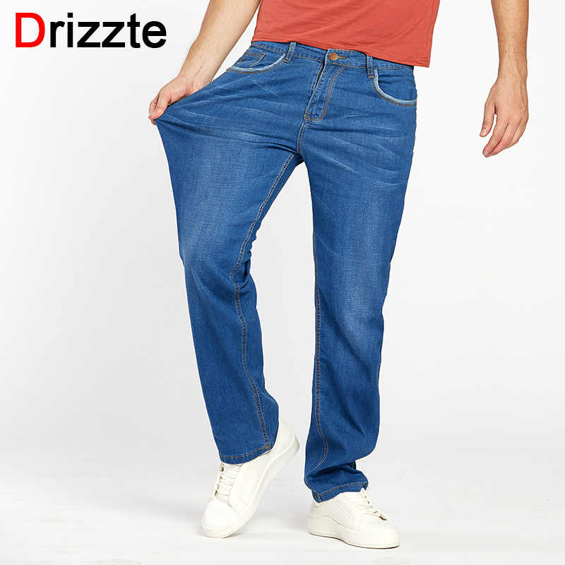 1333e8c659f Drizzte Summer Mens Thin Lightweight Stretch Denim Jeans Casual Fit Loose  Relax Trousers Pants Plus Size