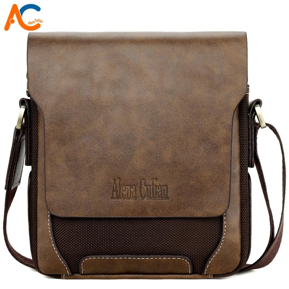 VICUNA POLO Breathable Oxford Patchwork PU Leather Mens Crossbody Bag Vintage Men Messenger Bags European Brand Leisure Man Bags