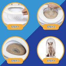 BEI DI CHONG система для обучения туалету для кошек, набор для обучения горшку, унитаз, поднос для уборки туалета, тренировочное сиденье для туалета