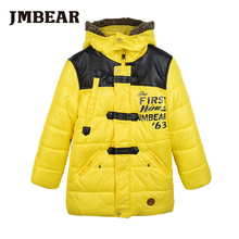 JMBear boys parka kids winter jacket warm snowsuit for children hooded outwear for 6 14 years
