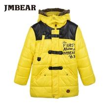 JMBear font b boys b font parka kids winter jacket warm snowsuit for children hooded outwear