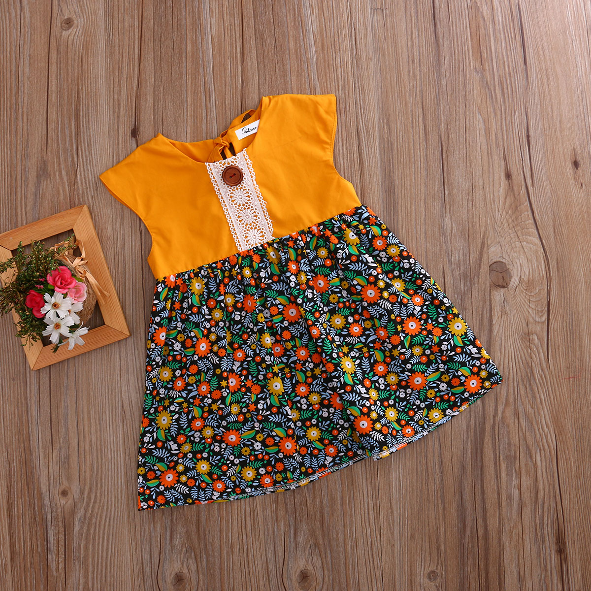 Bohemian-Floral-Toddler-Baby-Kids-Girls-Summer-Lace-Flower-Sundress-Party-Dress-Clothes-0-4T-4