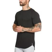 Muscleguys Camiseta larga para hombre Hip Hop Gyms Camiseta larga Extra  larga Camiseta para hombre culturismo 1a55651484c