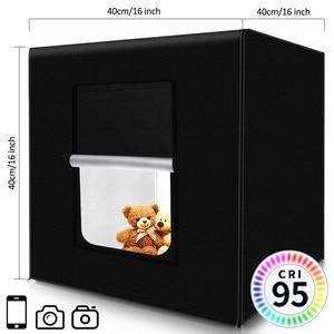 Image 2 - capsaver M40II Portable Photo Studio LED Light Box 40cm Folding Lightbox Photo Light Tent Softbox Kit for Jewelry Toy Shooting