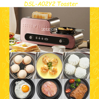 DSL A02Y2 Household 2 Slices Toaster Multifunctional Breakfast Toaster Egg Cooker Automatic Electric Frying Pan Quality Steamer