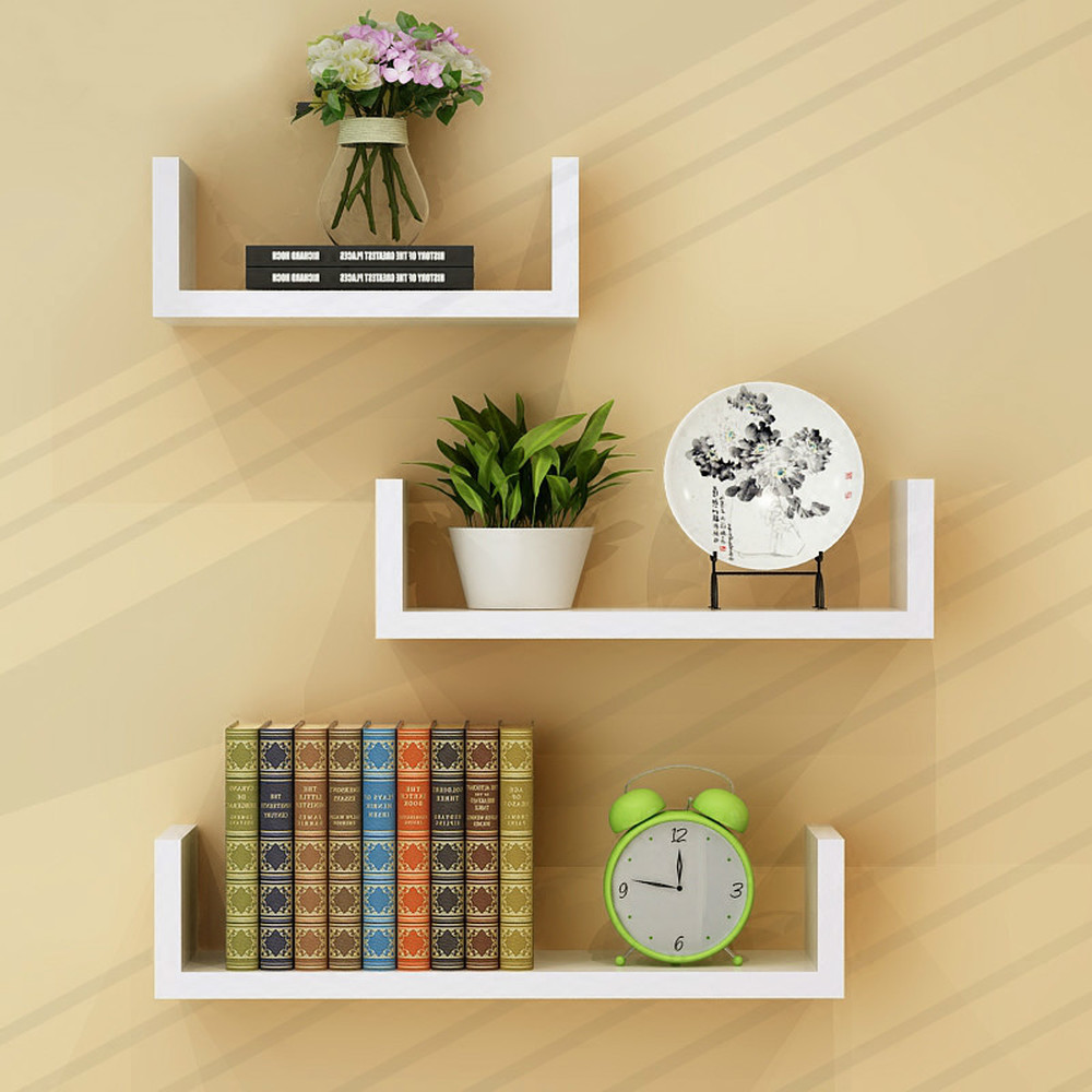 Wall shelf living room wall hanging wall partitions bedroom multi-layer bookshelf free punching simple modern LM01211618 shelf