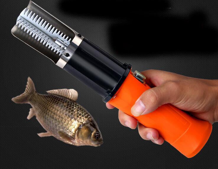 Puissant Électrique Peau de Poisson Scaler Détartrant Échelle Grattoir Couteau 1500MA Rechargeable Au Lithium Batterie Fishscale Fruits De Mer Outils