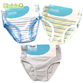 6 Pcs/Lot 100% Organic Cotton Kids Boys Girls Briefs Baby Underwear High Quality Shorts Panties For Children's Clothing 2-8 y