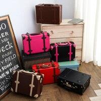 Vintage suitcase package suitcase small luggage travel bag female mini the box,lovely korea retro travel luggage box