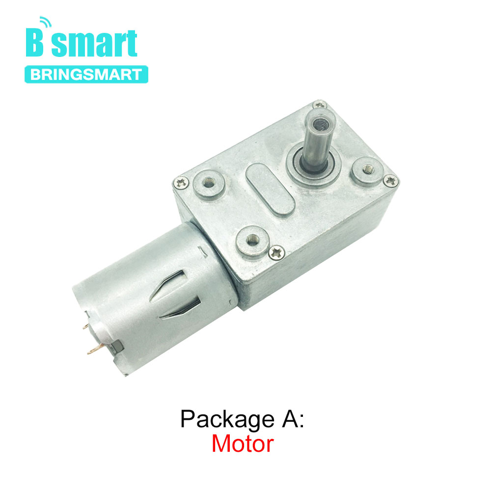 6V 24V Worm Gear Motor 12V Reducer 3 210RPM DC High Torque Electric Motor Metal Gear Reverse Self Lock For Automation Equipment in DC Motor from Home Improvement