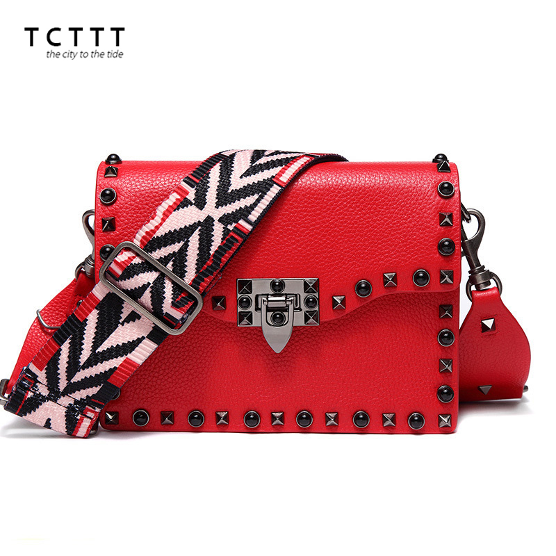 TCTTT Genuine leather shoulder bags for ladies luxury designer Rivet style crossbody Handbags High Quality Clutch Tote Girls Bag tcttt luxury handbags women bags designer fashion women s leather shoulder bag high quality rivet brand crossbody messenger bag