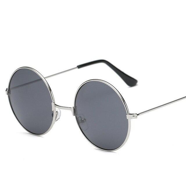 4986b1468 2018 NEWOversized Retro Rodada óculos de Sol Das Mulheres Designer De Marca  Óculos de Sol Do