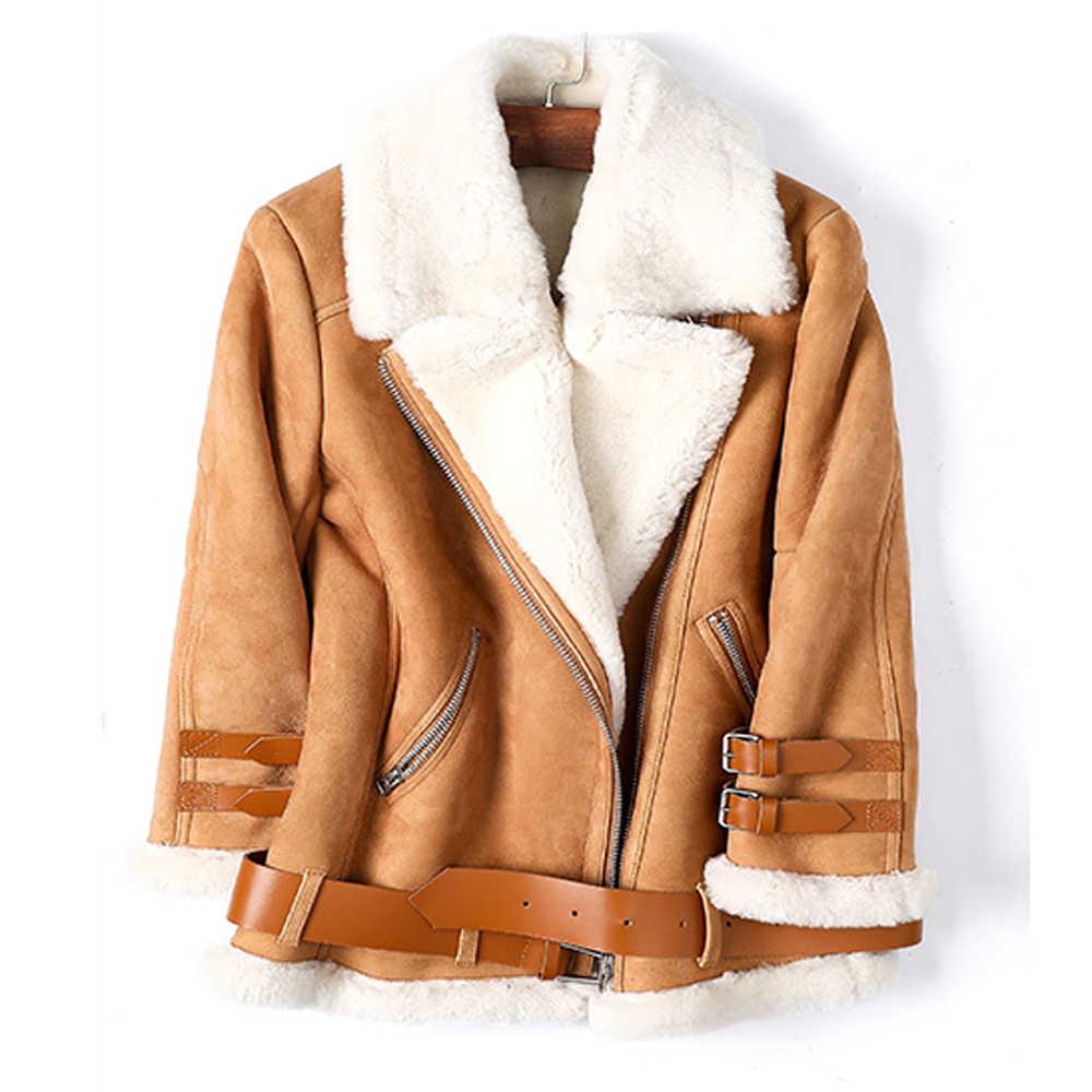 Men/'s Cashmere Sueded Lamb Lapel Coat Short Jacket Shearling Warm Outwear Winter