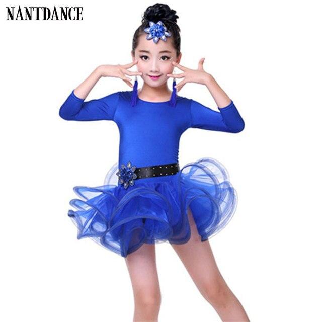 1fefbc394 Girl Latin Dance Dress For Girls Cha Cha Long Sleeve Latin Dress ...