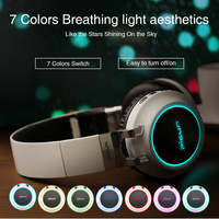 Bluetooth Headphones Wireless Glowing Headband Bluetooth Headset Earphone With Mic Support TF Card For Phone IPhone