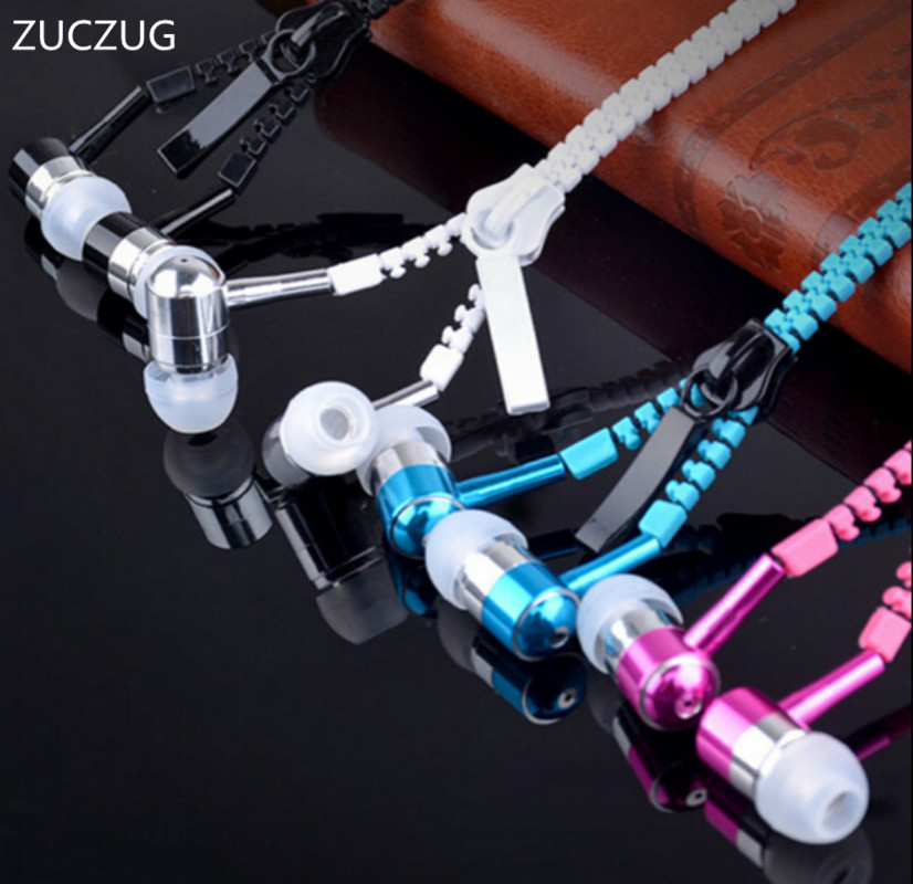 ZUCZUG new Microphone Mic Earbuds Premium 3.5mm Tangle-Free Zipper headphone Headset mp3 waterproof bluetooth headphones карандаш для век водостойкий 22 1 2 г artdeco