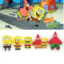 Hot Pen Drive 4G 8GB 16GB 32GB 64GB USB Flash Drive Cute Spongebob Patrick Together U Disk Lovely Creative Cartoon Pendrive Gift