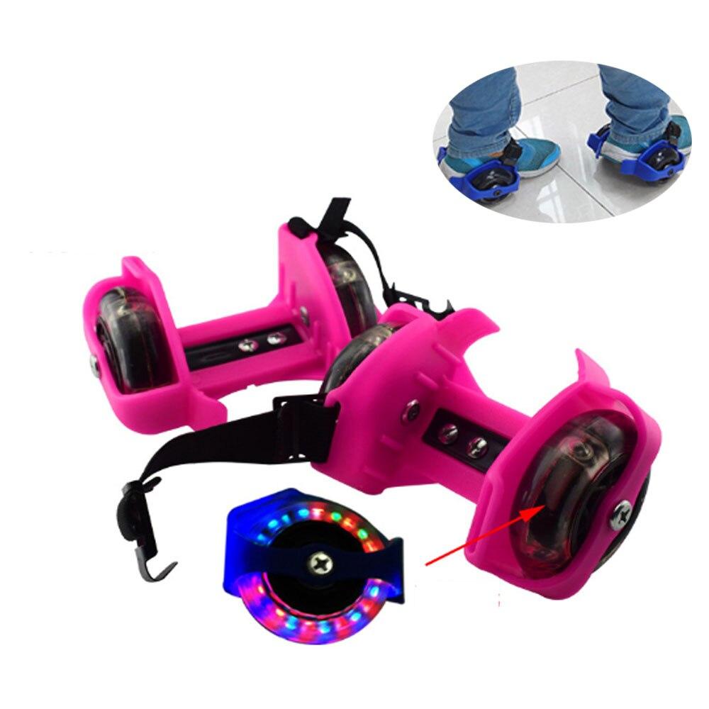 Flashing Roller Skating Colorful Adjustable Whirlwind Pulley Flash Wheels Heel Roller Skates For Kids